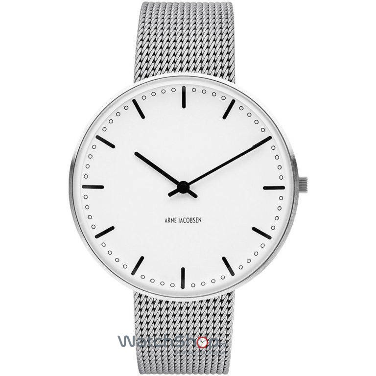 Ceas Arne Jacobsen CITY HALL 53202-2008 Mesh M Barbatesc Original de Lux