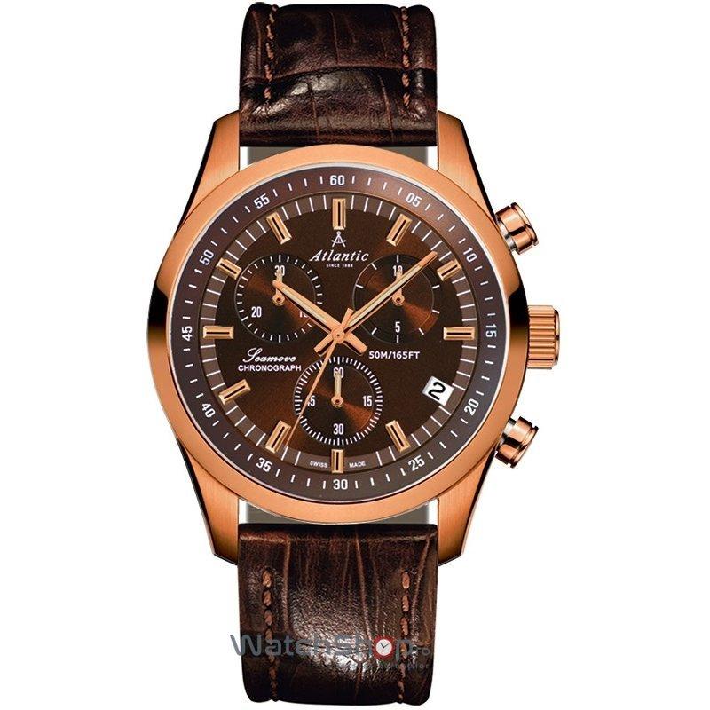 Ceas Atlantic SEAMOVE 65451.44.81 Cronograf Barbatesc Original de Lux