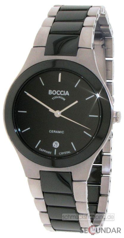 Ceas Boccia CERAMIC 3564-02 Gents XL Barbatesc de Mana Original