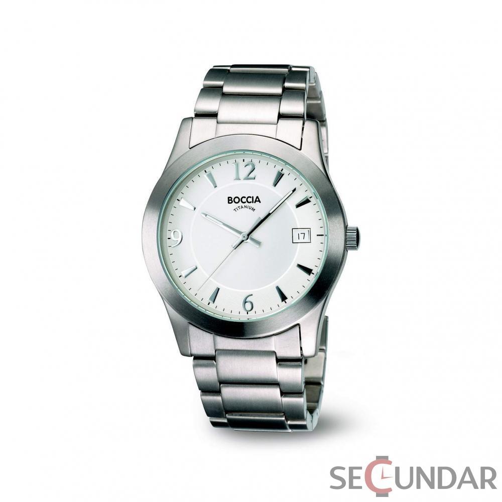 Ceas Boccia TITANIUM 3550-01 Gents Classic Wear Barbatesc de Mana Original