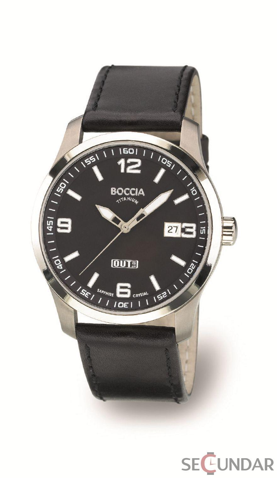 Ceas Boccia Titanium 3530-03 Barbatesc de Mana Original