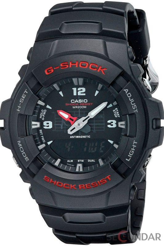 Ceas Casio G-SHOCK G-100-1B Antimagnetic Barbatesc de Mana Original