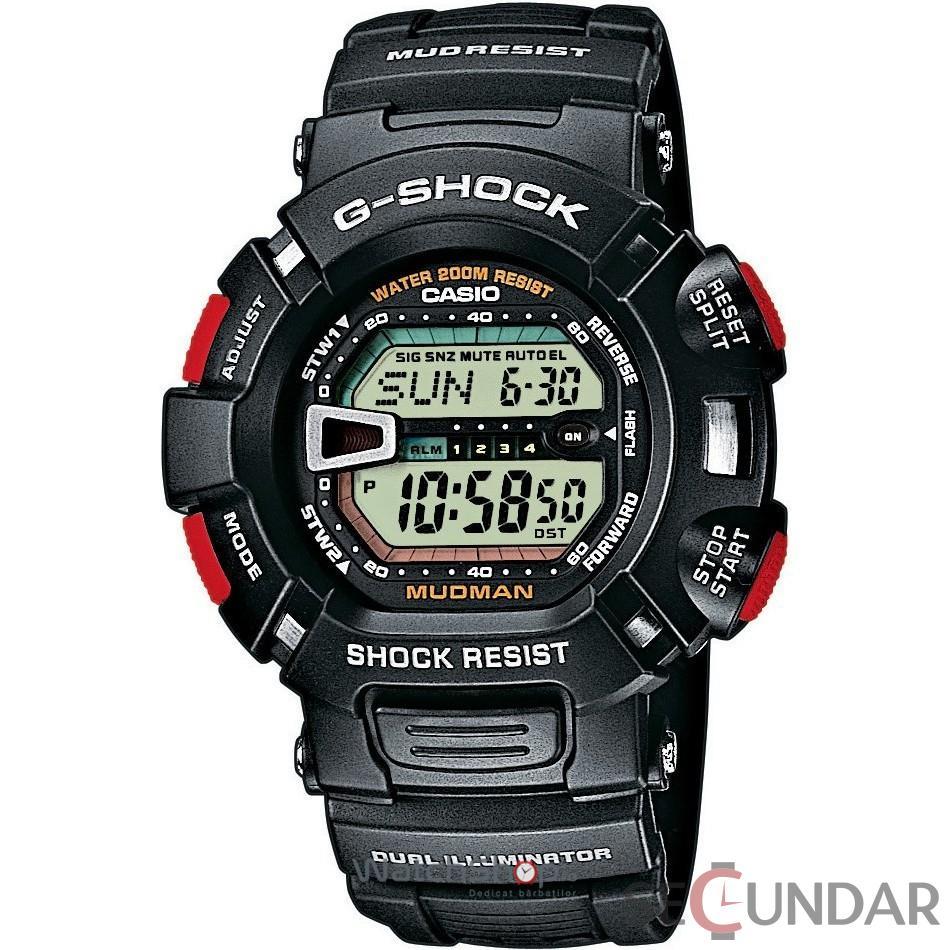Ceas Casio G-SHOCK G-9000-1V Mudman Barbatesc de Mana Original