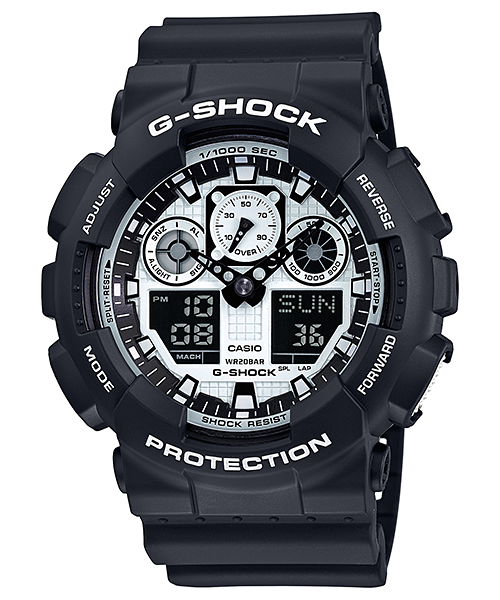 Ceas Casio G-SHOCK GA-100BW-1A Antimagnetic Barbatesc de Mana Original