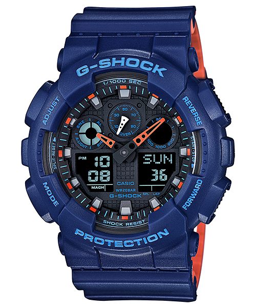 Ceas Casio G-SHOCK GA-100L-2A Antimagnetic Barbatesc de Mana Original