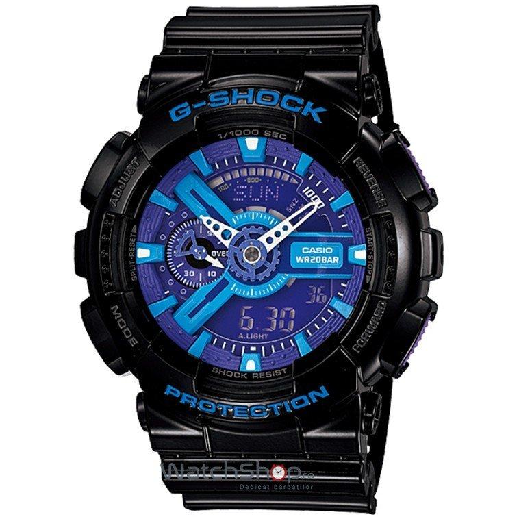 Ceas Casio G-SHOCK GA-110HC-1AER Antimagnetic Hyper Colours de Mana Original Pentru Barbati