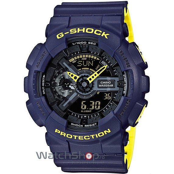 Ceas Casio G-SHOCK GA-110LN-2AER Antimagnetic Hyper Colours de Mana Original Pentru Barbati