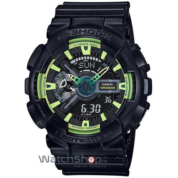 Ceas Casio G-SHOCK GA-110LY-1A Antimagnetic Hyper Colours de Mana Original Pentru Barbati