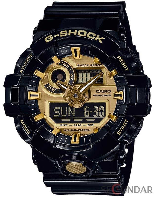 Ceas Casio G-SHOCK GA-710GB-1AER Antimagnetic Barbatesc de Mana Original