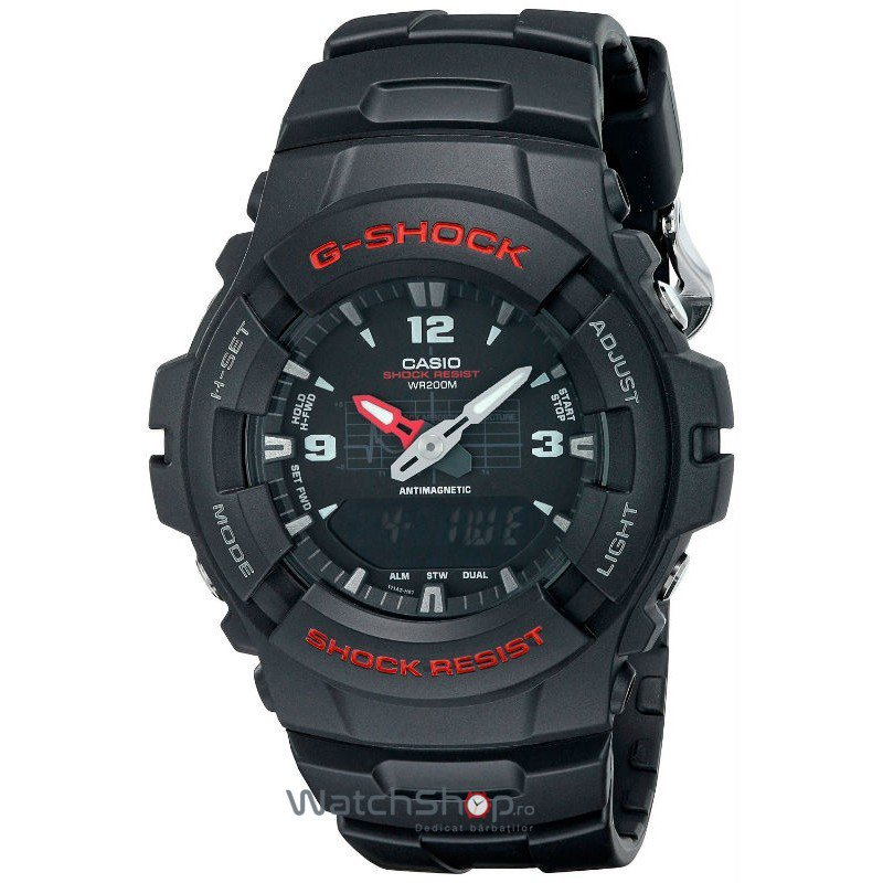 Ceas Casio G-Shock G-100-1B 200M de Mana Original Pentru Barbati