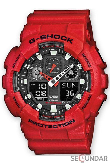 Ceas Casio G-Shock GA-100B-4AER Barbatesc de Mana Original