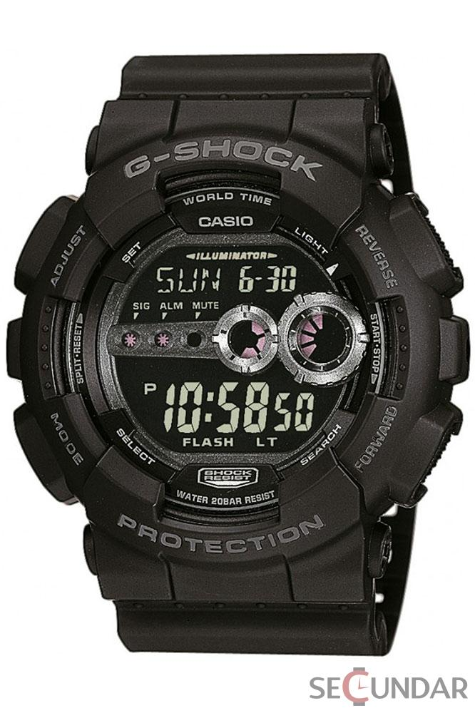 Ceas Casio G-Shock GD-100-1B Extra Large Black Barbatesc de Mana Original