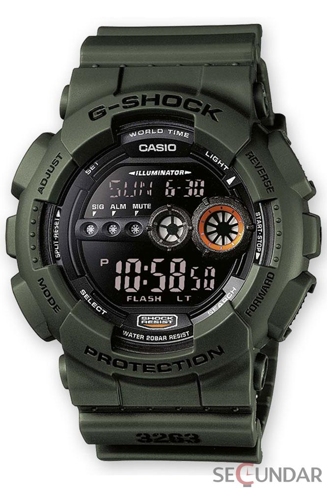 Ceas Casio G-Shock GD-100MS-3E Extra Large Black Barbatesc de Mana Original