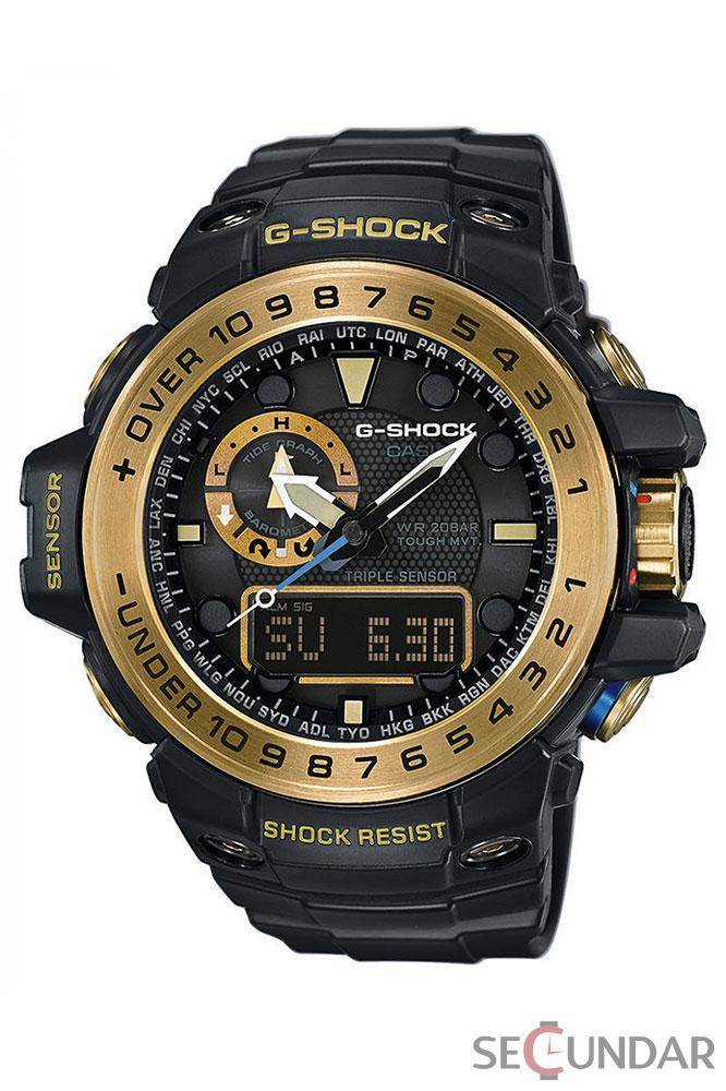 Ceas Casio G-Shock GWN-1000GB-1A Black Analog Digital Multi-Function Barbatesc de Mana Original