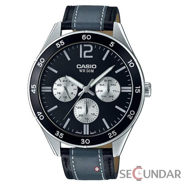 Ceas Casio MTP-E310L-1A1 Clasic Barbatesc de Mana Original