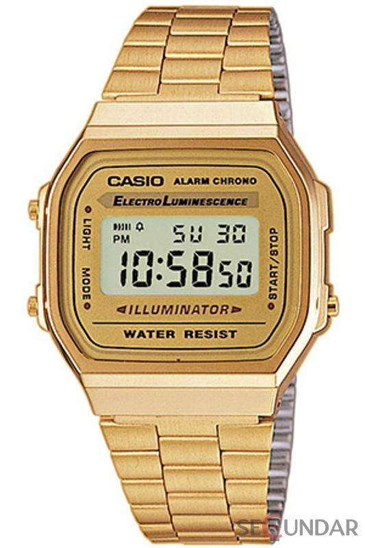 Ceas Casio Retro A168WG-9E Barbatesc de Mana Original