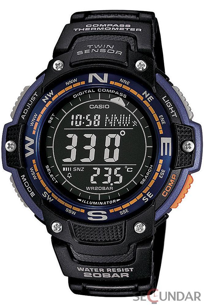 Ceas Casio SGW-100-2B Digital Compass Twin Sensor Sport Barbatesc de Mana Original