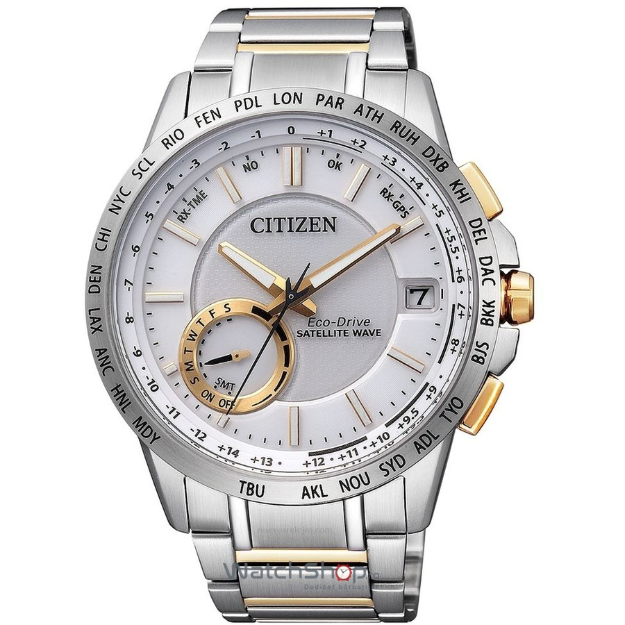 Ceas Citizen ELEGANT CC3004-53A Satellite Wave Eco-Drive original barbatesc