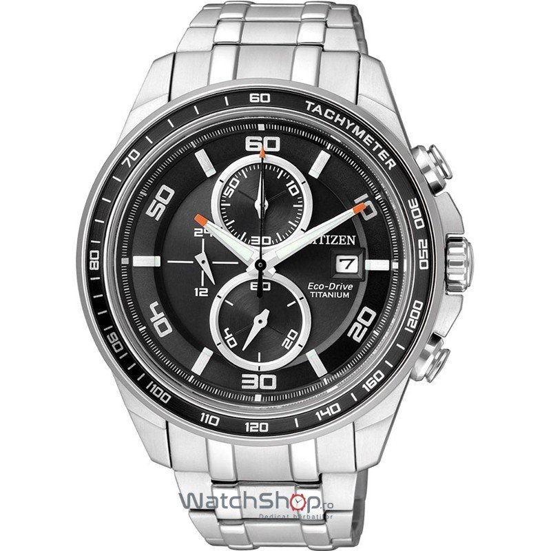 Ceas Citizen TITANIUM CA0340-55E Eco-Drive Chrono original barbatesc