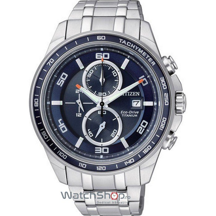 Ceas Citizen TITANIUM CA0345-51L Eco-Drive Chrono original barbatesc