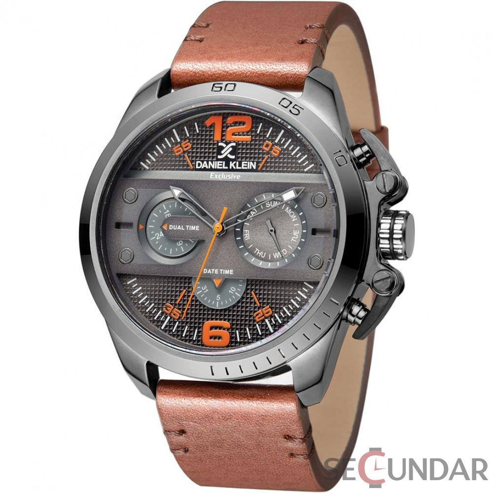 Ceas Daniel Klein Exclusive Dual Time DK11243-3 Barbatesc de Mana Original