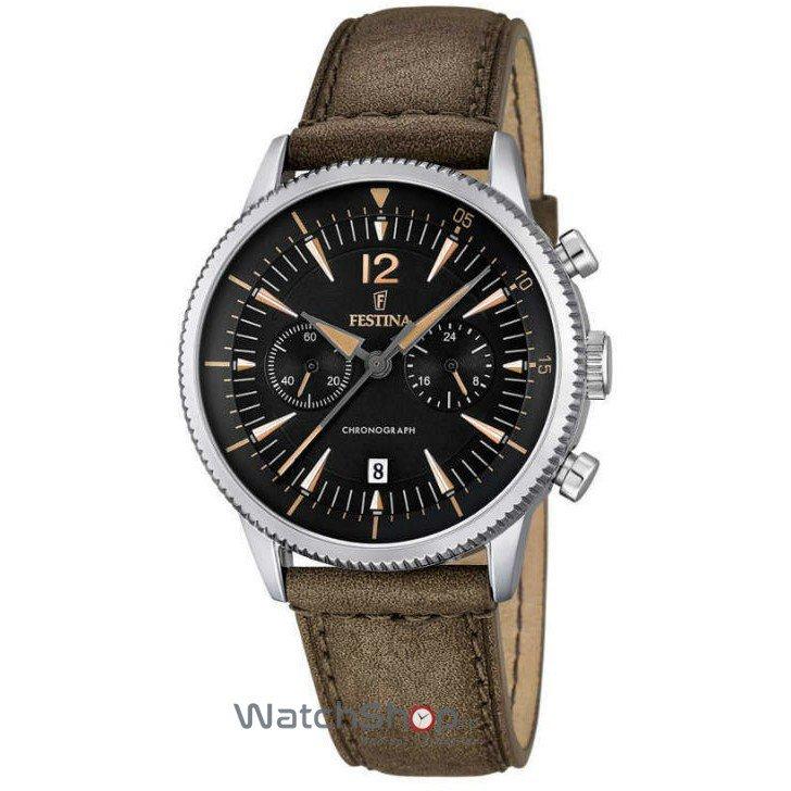 Ceas Festina CLASSIC F16870/3 Cronograf original barbatesc