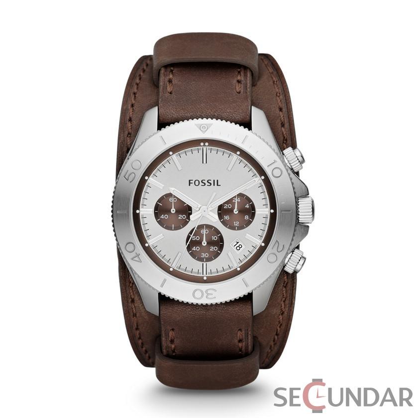 Ceas Fossil CH2857 RETRO TRAVELER Cronograf Barbatesc de Mana Original