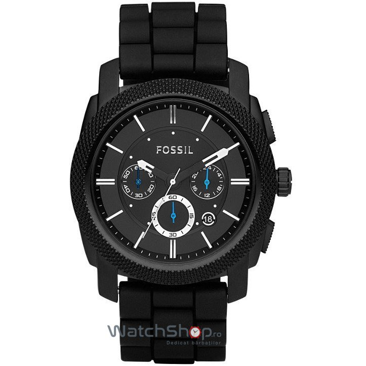 Ceas Fossil MACHINE FS4487 Black original barbatesc
