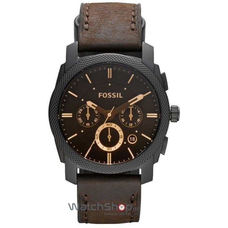 Ceas Fossil MACHINE FS4656 Brown original barbatesc