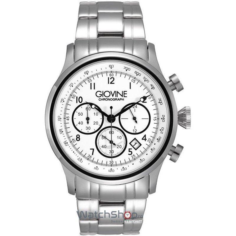 Ceas Giovine CASANOVA OGI004/C/MB/SS/BN Cronograf Barbatesc Original de Lux