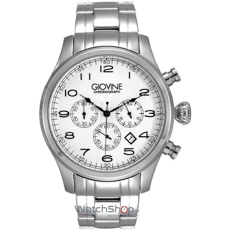 Ceas Giovine MICHELANGELO OGI002/C/MB/SS/BN Cronograf Barbatesc Original de Lux