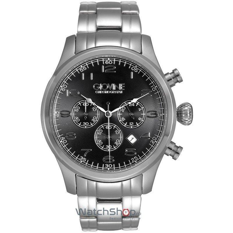Ceas Giovine MICHELANGELO OGI002/C/MB/SS/NR Cronograf Barbatesc Original de Lux