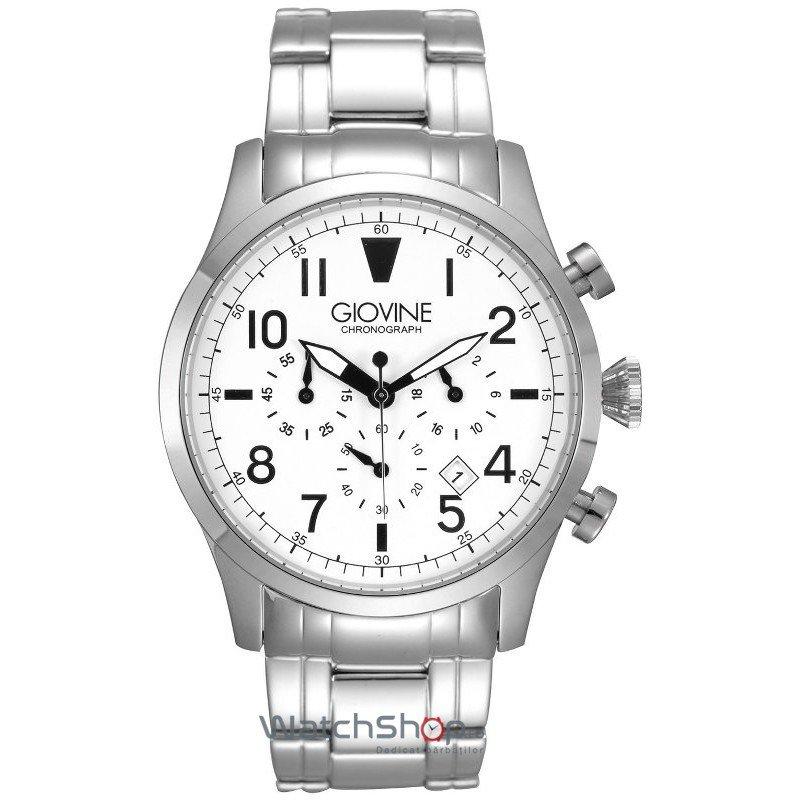 Ceas Giovine TORNADO OGI001/C/MB/SS/BN Cronograf Barbatesc Original de Lux