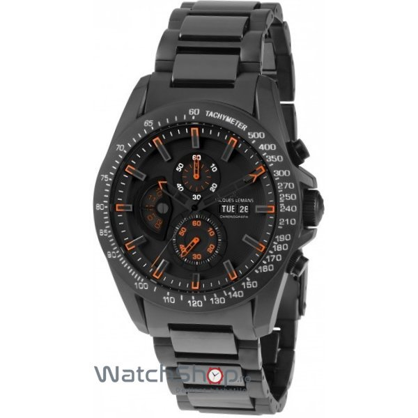 Ceas Jacques Lemans LIVERPOOL 1-1635H GMT Barbatesc Original de Lux