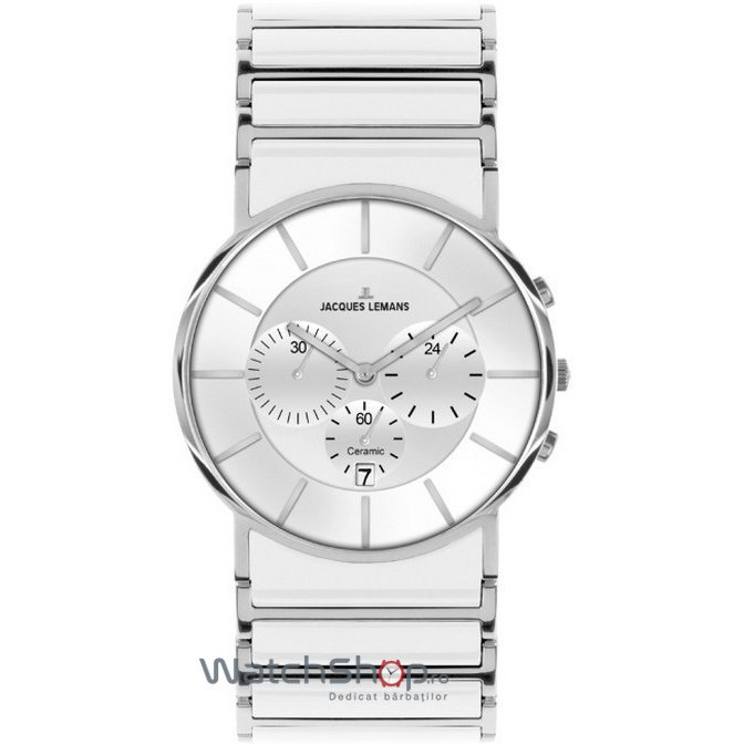 Ceas JacquesLemans YORK 1-1815B Cronograf Barbatesc Original de Lux