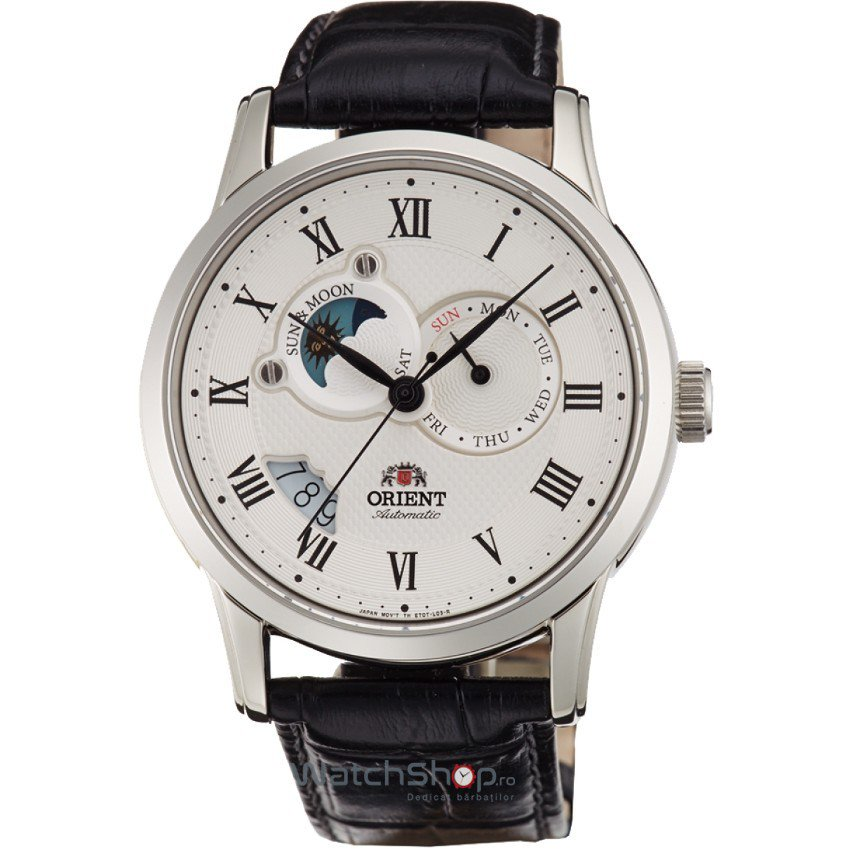 Ceas Orient CLASSIC AUTOMATIC ET0T002S SUN AND MOON Barbatesc Original de Lux
