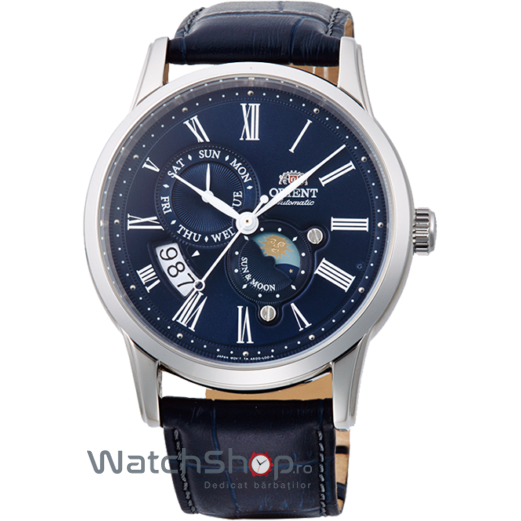 Ceas Orient CLASSIC AUTOMATIC FAK00005D0 SUN AND MOON Barbatesc Original de Lux