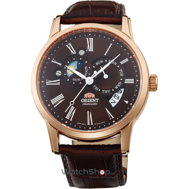 Ceas Orient CLASSIC AUTOMATIC FET0T003T0 SUN AND MOON Barbatesc Original de Lux