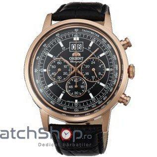 Ceas Orient CLASSIC DESIGN TV02002B Cronograf Barbatesc Original de Lux