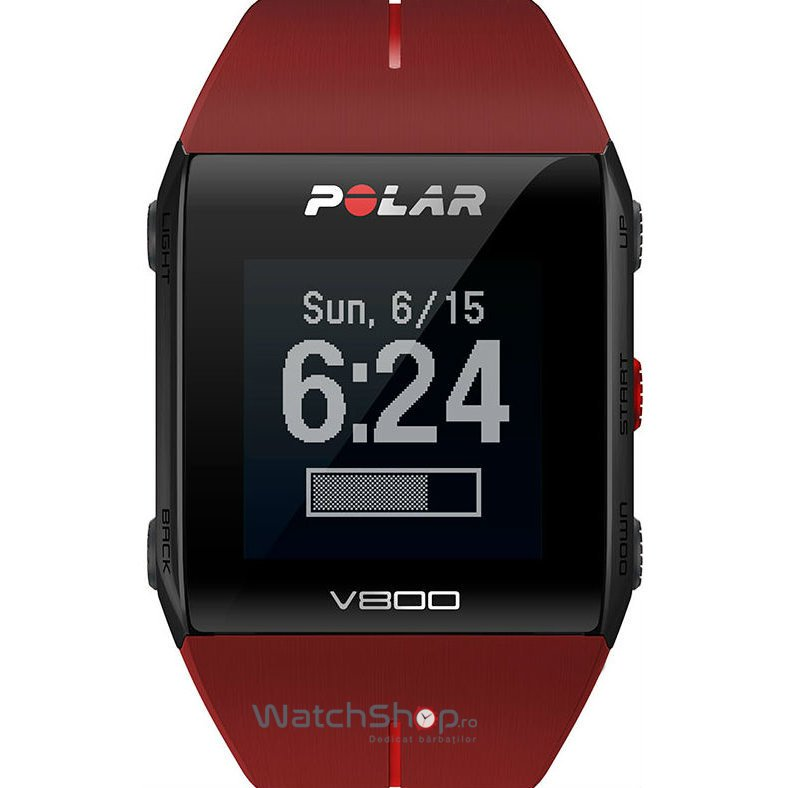 Ceas Polar TRAINING COMPUTER V800 RED 90060774 GPS Barbatesc Original de Lux