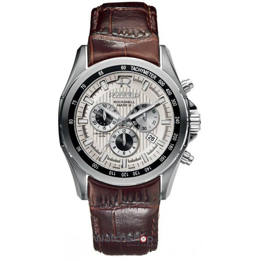 Ceas Roamer Rockshell Mark III Brown Leather Strap 220837 41 15 02 Barbatesc Original de Lux