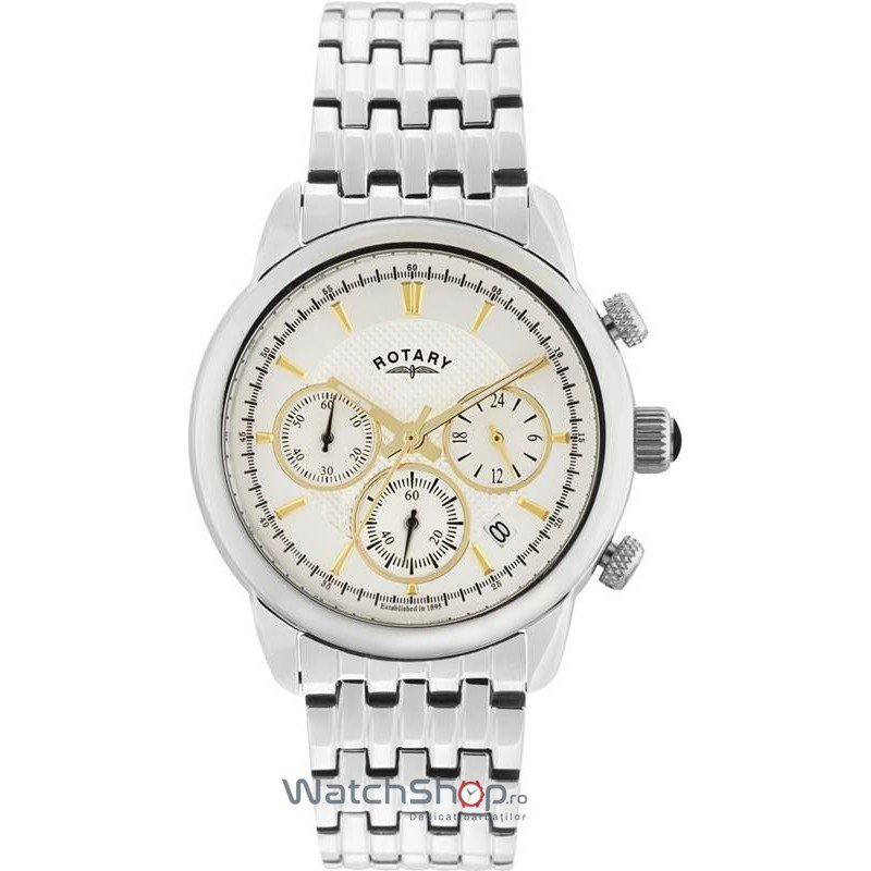 Ceas Rotary MONACO GB02876/02 Cronograf Barbatesc Original de Lux