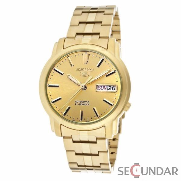 Ceas Seiko 5 Automatic Stainless Steel Brown Dial SNKK76K1 Barbatesc de Mana Original