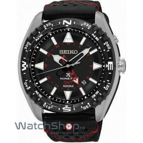 Ceas Seiko PROSPEX SUN049P2 Kinetic GMT de mana pentru barbati
