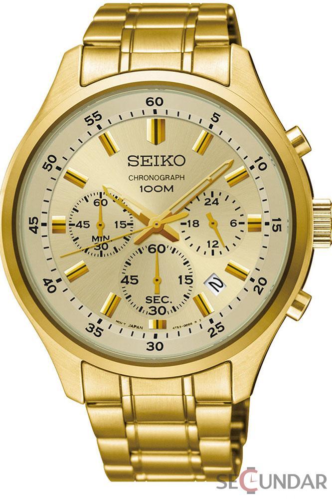 Ceas Seiko Quartz SKS592P1 Barbatesc de Mana Original