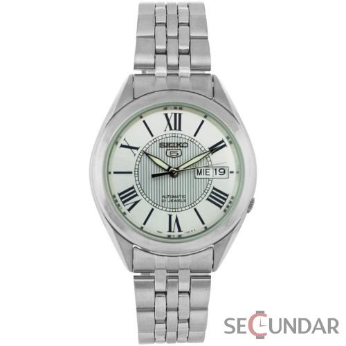 Ceas Seiko SNKL29K1 Stainless Steel Analog with White Dial Barbatesc de Mana Original
