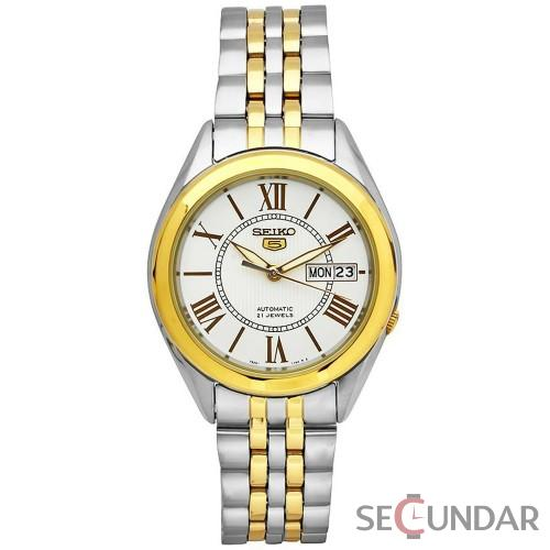 Ceas Seiko SNKL36K1 Two Tone Stainless Steel Analog with White Dial Barbatesc de Mana Original