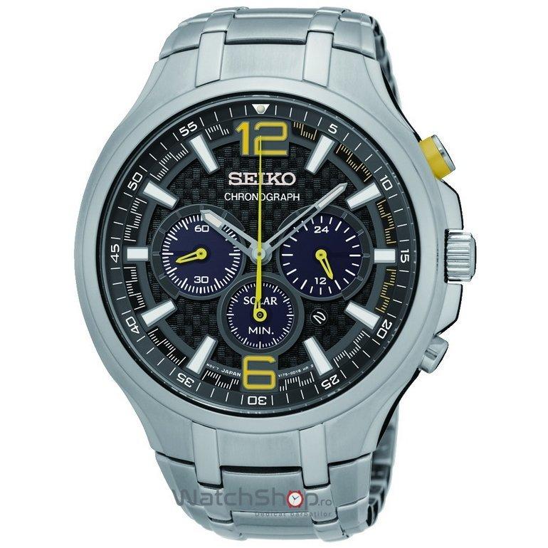 Ceas Seiko SOLAR SSC449P9 Cronograf de mana pentru barbati
