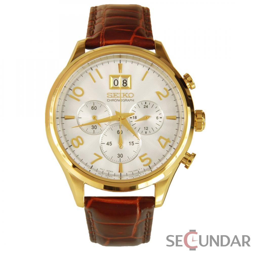 Ceas Seiko SPORTS SPC088P1 Cronograf Barbatesc de Mana Original