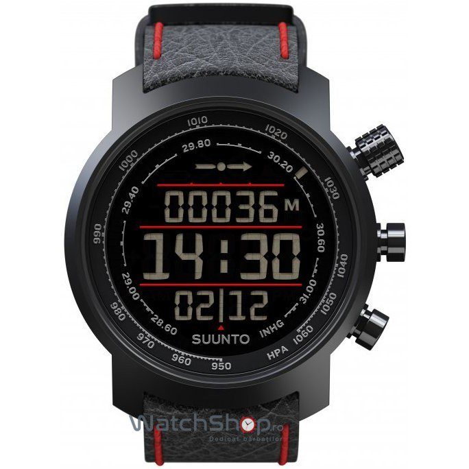 Ceas Suunto ELEMENTUM TERRA BLACK AND RED LEATHER de mana pentru barbati
